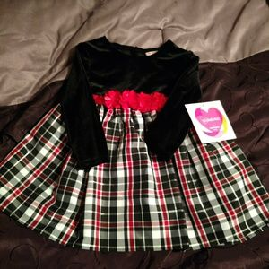 Youngland Black and Red plaid dress
